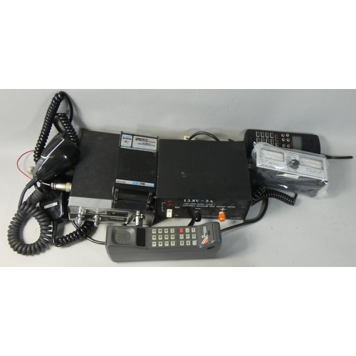4 - A Mustang CB 1000 CB Radio 40 Channel Transceiver with speaker, together with an early Motorola Dyna...