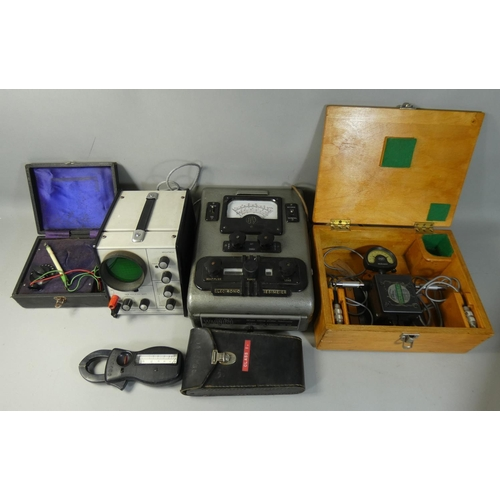 5 - A collection of telequipment and similar to include an oak cased British Aerospace Class 1 Mahr Mill...