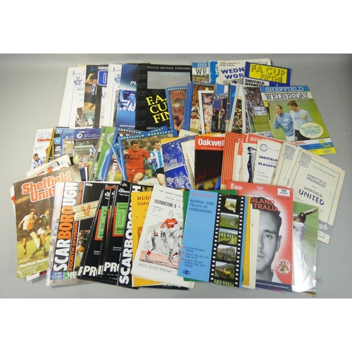 33 - An extensive collection of approximately two hundred football and rugby league programmes, 1950's to...