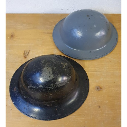 56 - A Belgium WWII metal helmet, stamped BMB and another WWII helmet dated 1941 (2)....