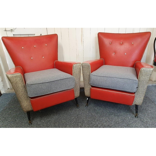 A pair 1950's armchairs.