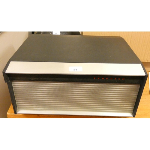 24 - A Ferguson four track, three speed tape recorder model 3214, with manual...
