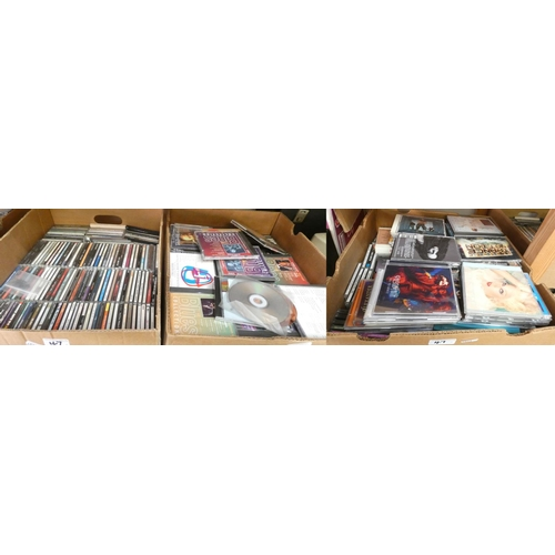 47 - A large collection of CD's, 3 boxes...