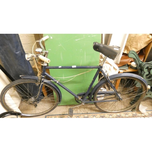9 - A Raleigh gentleman's bicycle with three speed rear hub...