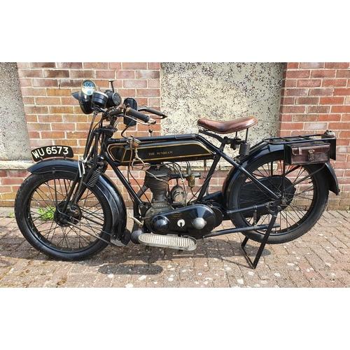 1112 - 1926 Sunbeam Model 4, 599cc. Registration number WU 6573 (non transferrable). Frame number 17824. En...
