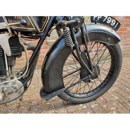 1114 - 1928 Sunbeam Model 8, 350 cc. Registration number PP 7991. Frame number C1391. Engine number 273/232...