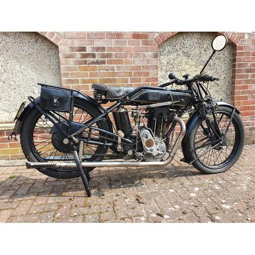 1116 - 1927 Sunbeam Model 9/90, 493 cc. Registration number SV 7509 (non transferrable). Frame number D1721...