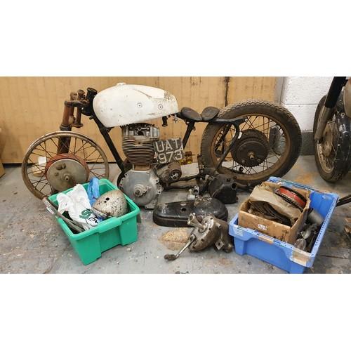310 - 1956 Norton ES2, 499 cc, project. Registration number UAT 973. Frame number 58682 (see text). Engine...
