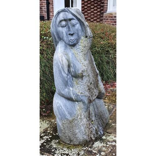 337 - Darren Yeadon (b.1970), a carrara marble sculpture of a lady, c.2005, 135 cm ARR For more informatio...