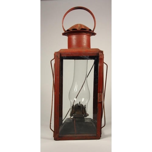 172 - A Canadian Pacific Railway hand lamp embossed C.P.R on body and glass globe and AD LAKE KERO, togeth...