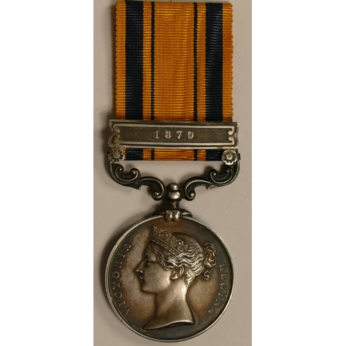 353 - South Africa 1879, awarded to 1509 Pte. C. Mullin, 1/24th Foot, Queens South Africa, 1879 clasp.  Pr...