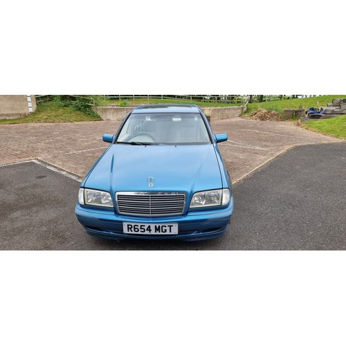 516 - 1997 Mercedes Benz W202 C180, Registration number R654 MGT. Chassis number . Engine number . In Octo...