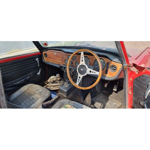 502 - 1969 Triumph TR6 Injection, Project. Registration number SKJ281G. Chassis number 25608CP. Engine num...