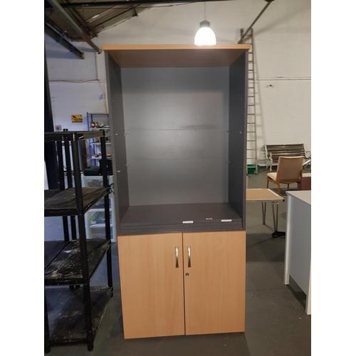 822 - Melamine office storage unit...