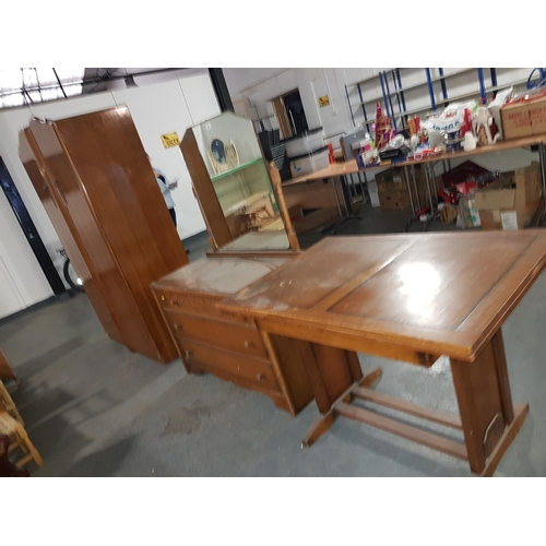 826 - Wardrobe, dressing table and table...