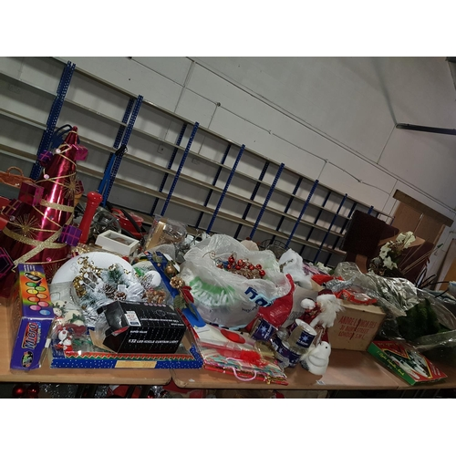 830 - Large quantity of Christmas decorations, tree etc....