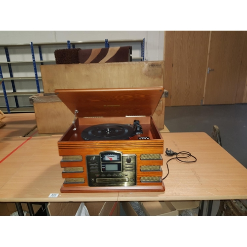 833 - Steepletone vintage style record player, tape deck etc....