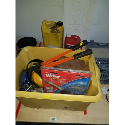 846 - Box of tools, building, chemicals etc....