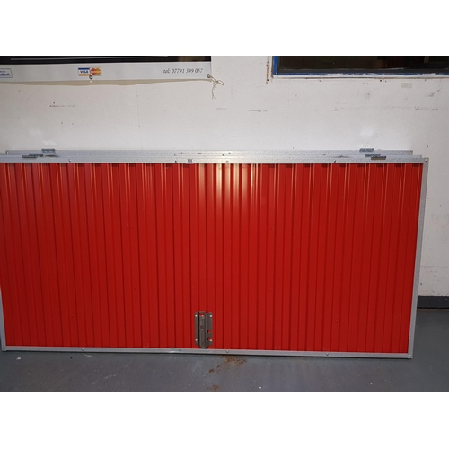 858 - Four galvanized and painted doors...