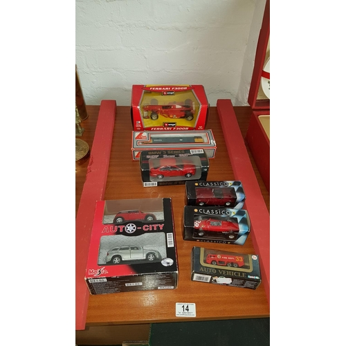 14 - Lima OO gauge engine and boxed cars including Burago...