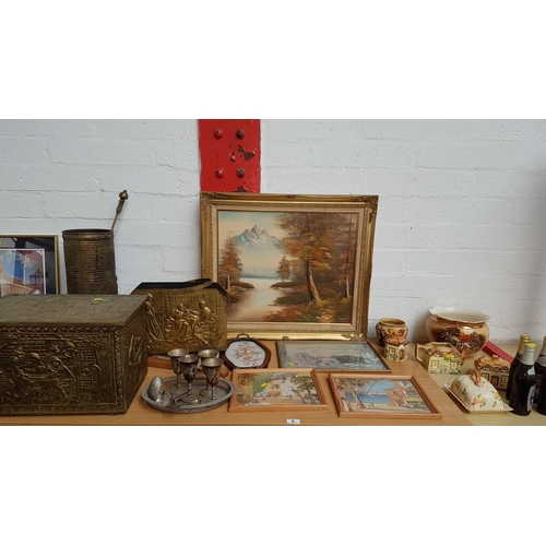 6 - Quantity of miscellaneous china, brass, pictures etc....