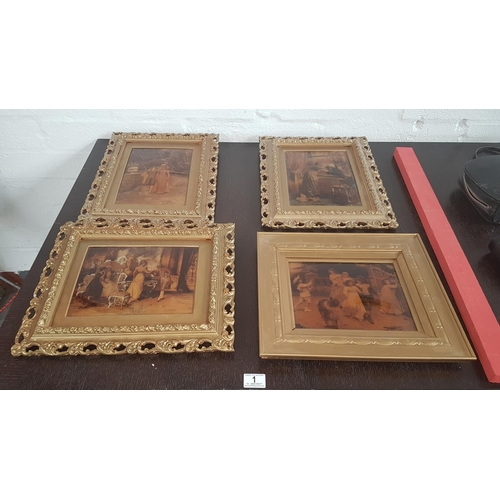 1 - Four Crystoleum pictures in gilt frames...