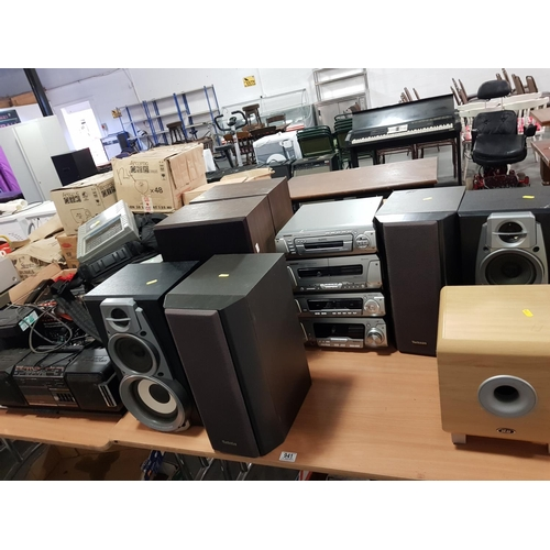 941 - Large amount of mixed stereo systems including Technics...