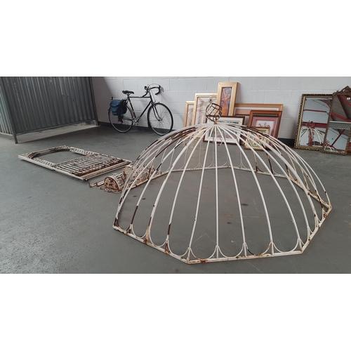 239 - Large metal gazebo...