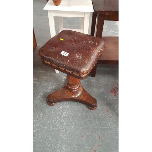 232 - Victorian piano stool...