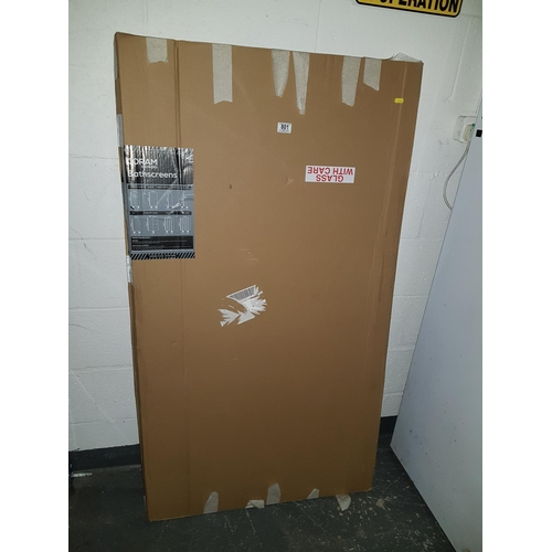 801 - New boxed chrome showerscreen 1400 x 800mm...