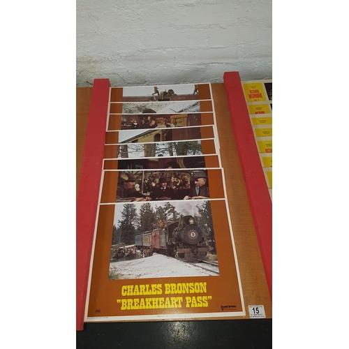 15 - 8 x Charles Bronson ' Breakheart pass' lobby card . 18
