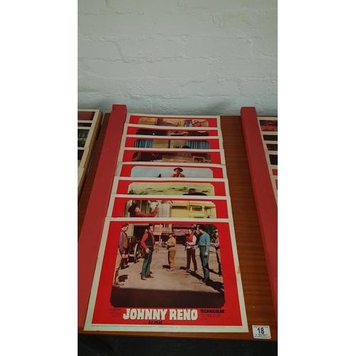 18 - 7 x Johnny Reno lobby card, 18