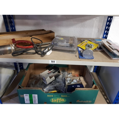904 - Quantity of new 5 lever Mortice locks, new handles and vintage Pifco paint stripper...