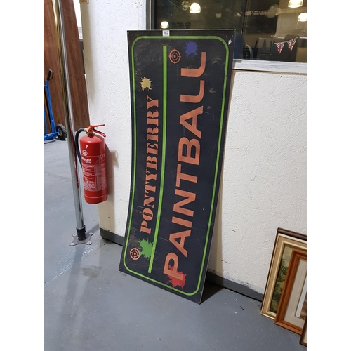 912 - Pontyberry paintball sign from Stella series...