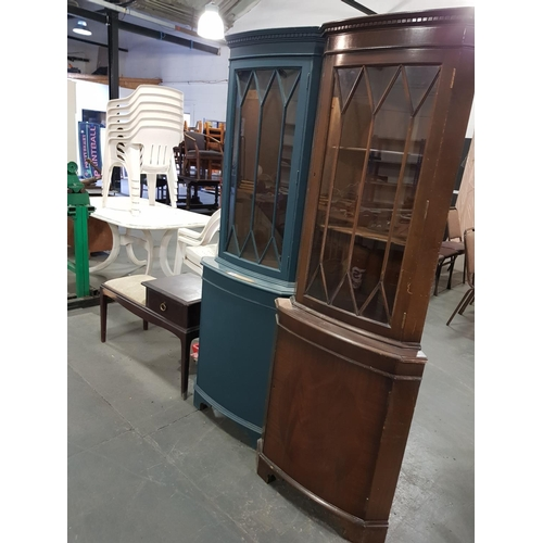 920 - Two corner cabinets and a telephone stool...