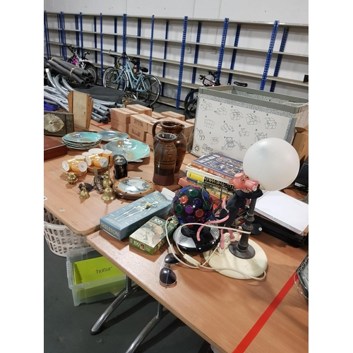 925 - Miscellaneous items including railway books, pink panther light, fish plates etc....