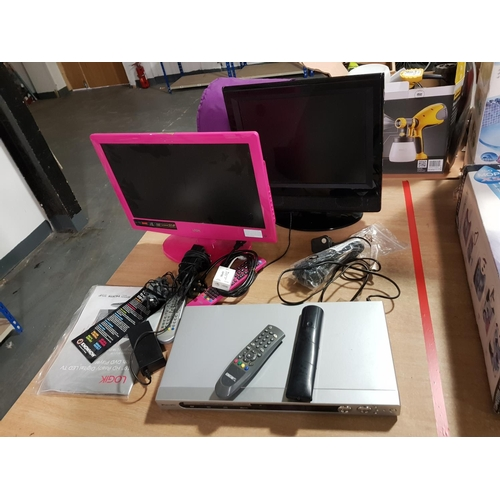 931 - Logik portable TV and one other etc....
