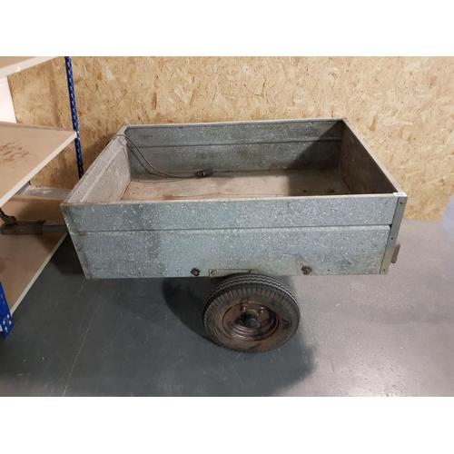 939 - Small galvanised trailer...