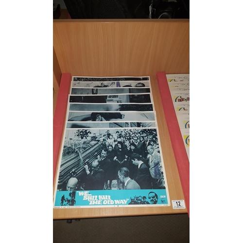 12 - 8 x large cinema lobby cards 'We Still Kill The Old Way'...