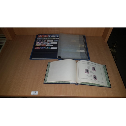 16 - 1953 coronation stamp album with mint stamps and stamp album...