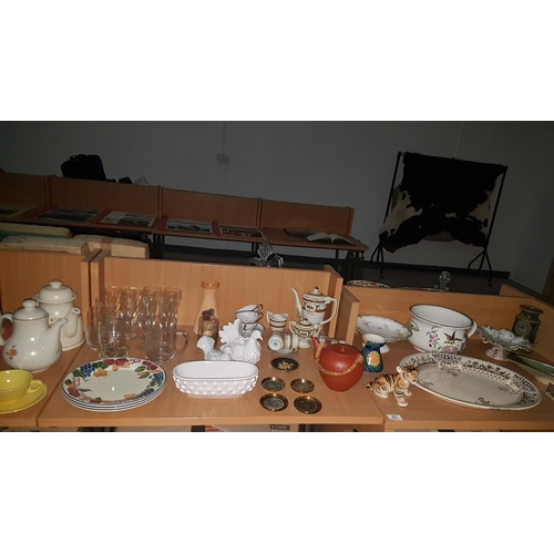 23 - Mixed glass and china including Devon ware...