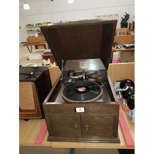2 - His Master's Voice- wind up gramaphone...