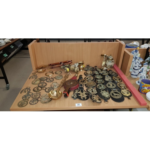 20 - Collection of brass and metalware...