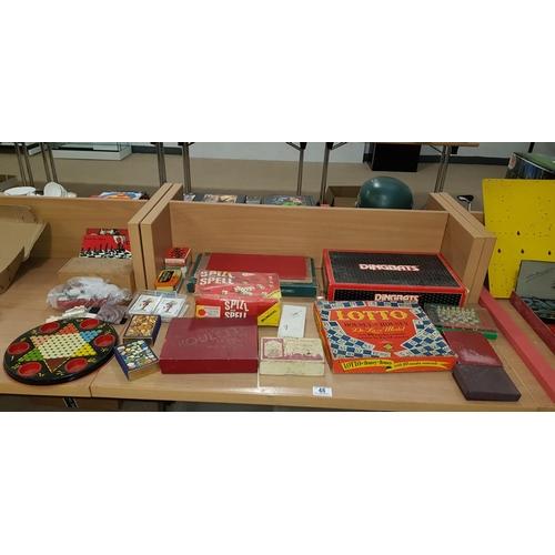 48 - Vintage board games, chess set etc....