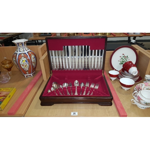 28 - Boxed canteen of cutlery...
