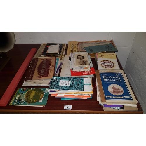 7 - Quantity of vintage ephemera...