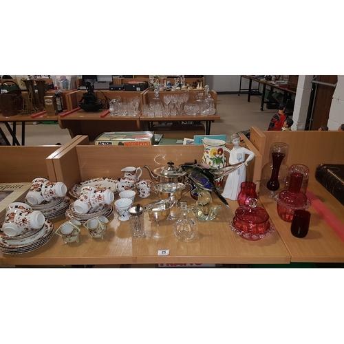 25 - Tea set ,glass and china etc....