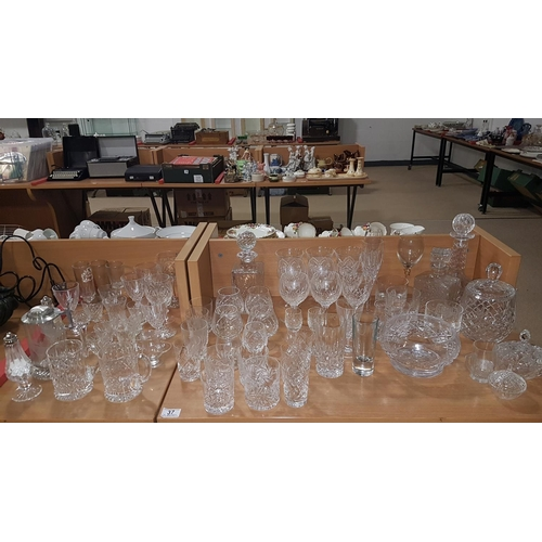 37 - Large quantity of crystal and glassware...