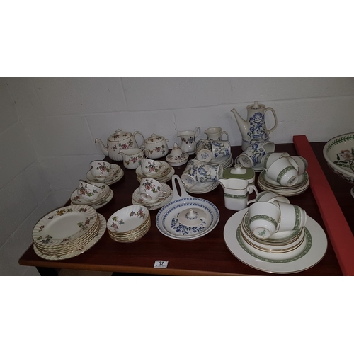 57 - Royal Doulton Rondelay part tea set etc....