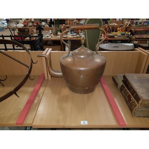 2 - Large copper kettle...